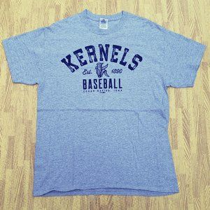 Cedar Rapids Kernels Baseball Gray Shirt Large L